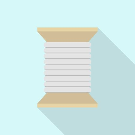 Wood coil icon. Flat illustration of wood coil vector icon for web design Ilustrace
