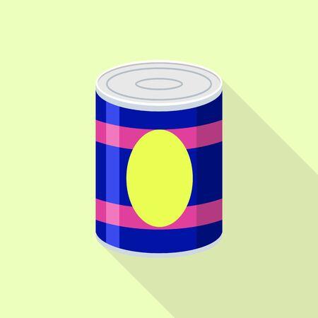 Fruit tin can icon. Flat illustration of fruit tin can vector icon for web design Illustration