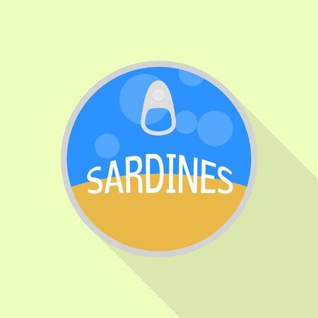 Sardines tin icon, flat style Ilustracja