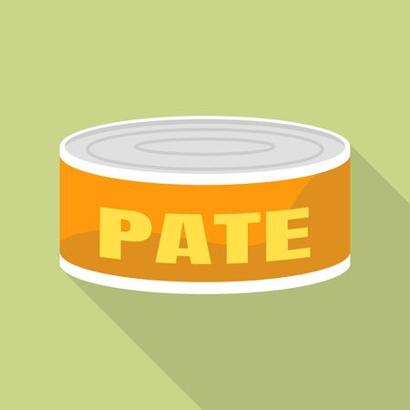 Tin can pate icon. Flat illustration of tin can pate vector icon for web design