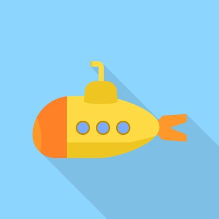 Yellow periscope icon. Flat illustration of yellow periscope vector icon for web design