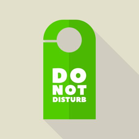 Do not disturb hanger icon, flat style
