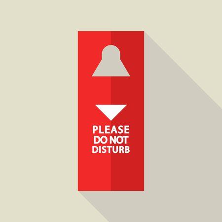 Motel door tag icon. Flat illustration of motel door tag vector icon for web design