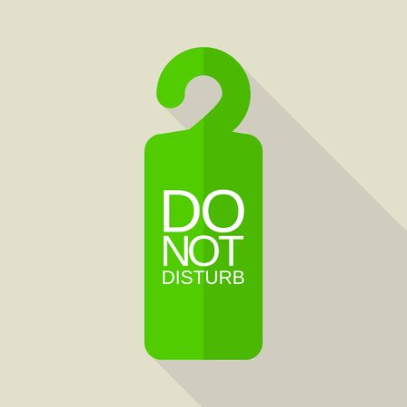 Green do not disturb tag icon. Flat illustration of green do not disturb tag vector icon for web design