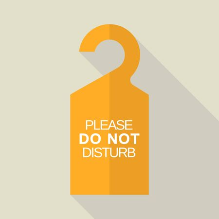 Do not disturb tag icon, flat style
