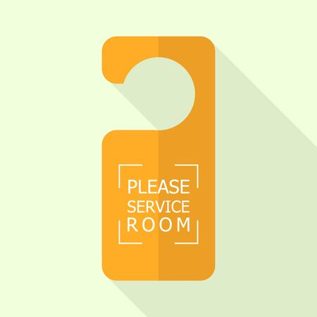 Please service room tag icon. Flat illustration of please service room tag vector icon for web design Ilustração