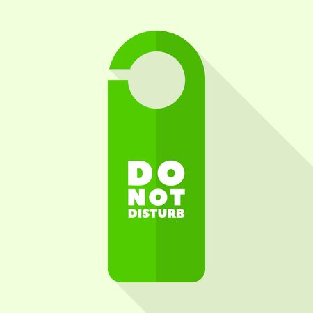 Do not disturb hotel tag icon, flat style Çizim