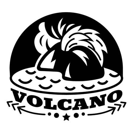 Volcano logo, simple style