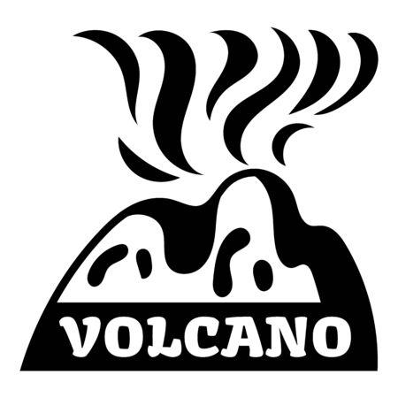 Volcano erruption logo, simple style