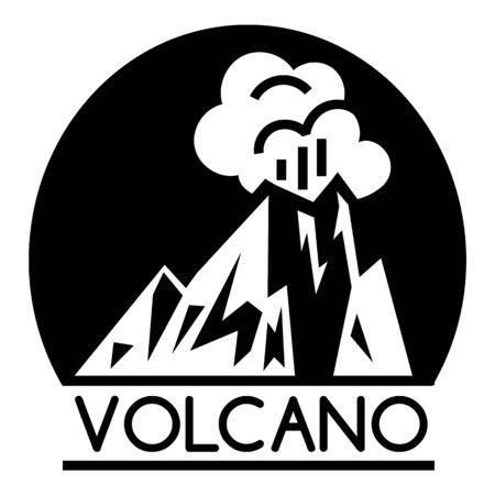 Volcano lava logo, simple style