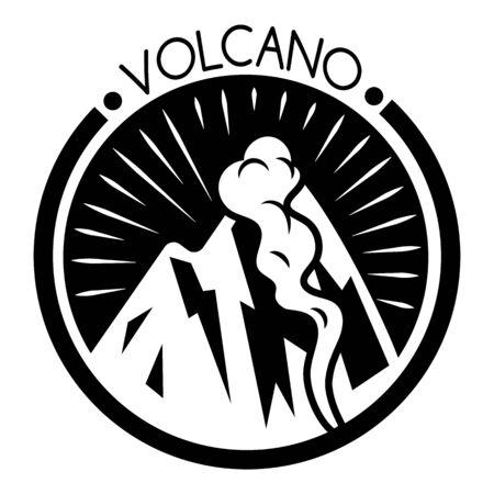 Volcano hill logo, simple style Illustration