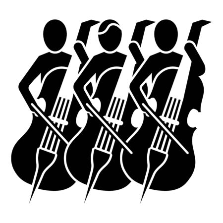 Musician orchestra icon, simple style