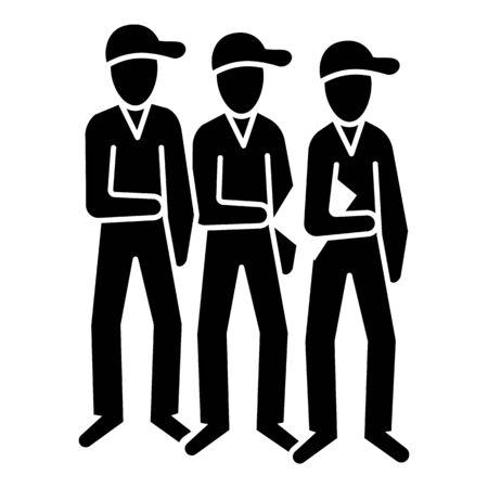 Brotherhood people icon, simple style