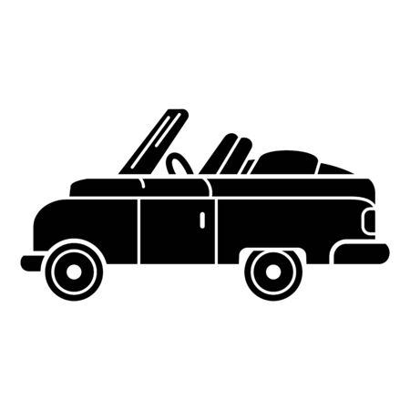 Rap retro car icon, simple style 向量圖像