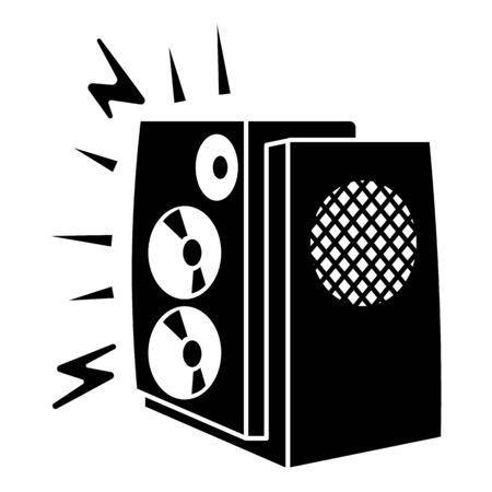 Music bass speaker icon, simple style Ilustrace