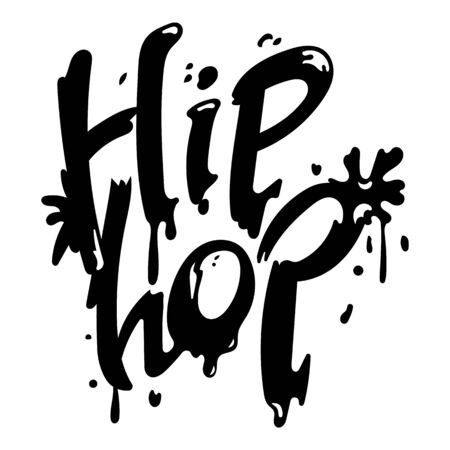 Hip hop icon, simple style