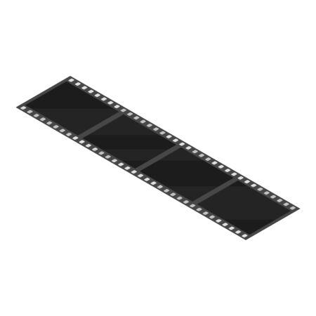 Black film icon, isometric style