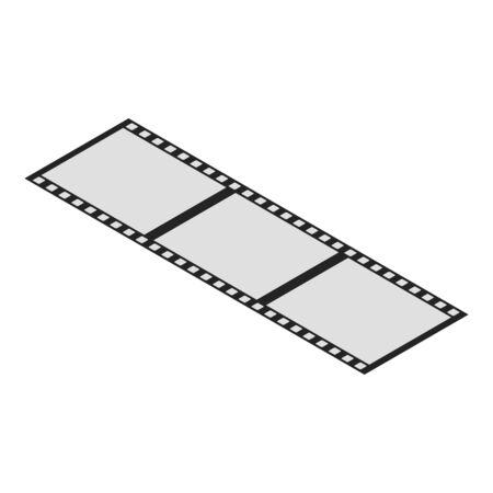 Video film icon, isometric style Stock Illustratie