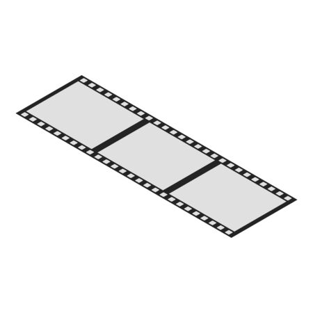 Video film icon, isometric style Иллюстрация