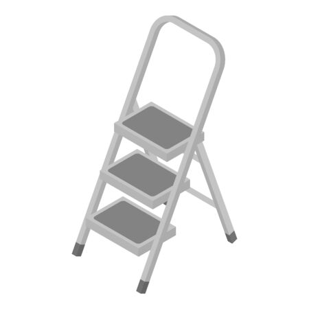 Rubber ladder icon. Isometric of rubber ladder vector icon for web design isolated on white background 일러스트