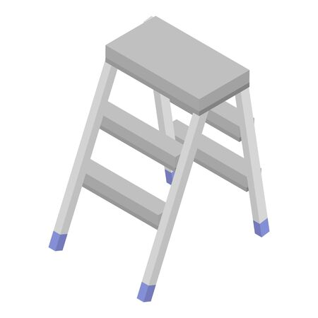 Household ladder icon. Isometric of household ladder vector icon for web design isolated on white background