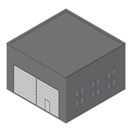 Warehouse hangar icon, isometric style