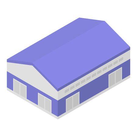 City hangar icon, isometric style Ilustração