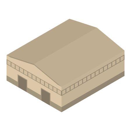 Barn hangar icon, isometric style