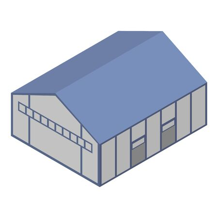 Terminal hangar icon, isometric style