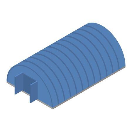 Blue hangar icon, isometric style  イラスト・ベクター素材