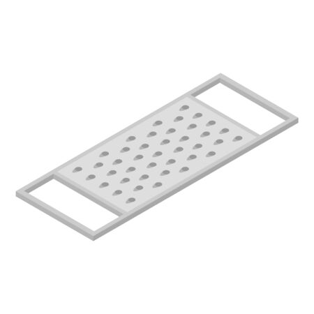 Grater icon, isometric style