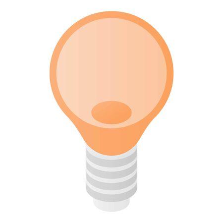 Bulb light icon, isometric style  イラスト・ベクター素材