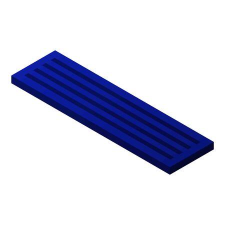 Computer keyboard icon, isometric style