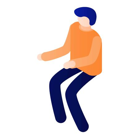Man want to sit down icon, isometric style Illustration