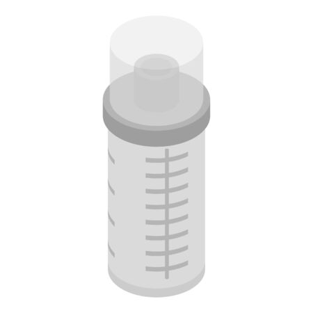 Baby shaker icon. Isometric of baby shaker vector icon for web design isolated on white background