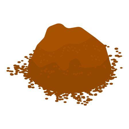 Cocoa powder icon, isometric style Foto de archivo - 129338781