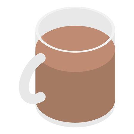 Cocoa mug icon, isometric style Illustration