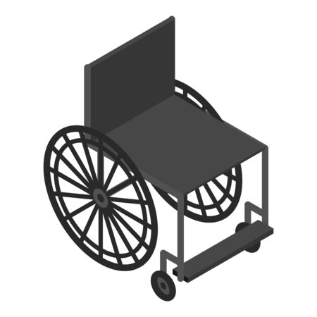 Mobility wheelchair icon, isometric style