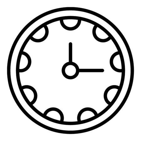 Clinic clock icon, outline style Ilustração