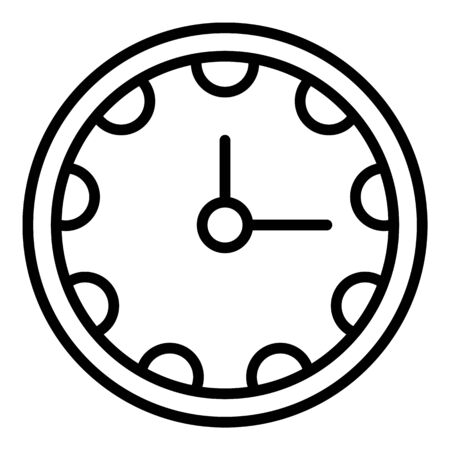 Clinic clock icon, outline style Stock Illustratie