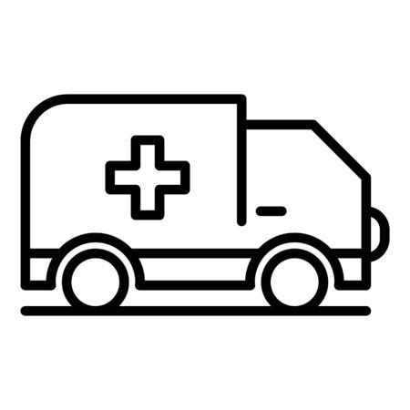 Ambulance car icon, outline style Stock Illustratie