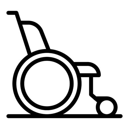 Wheelchair icon, outline style