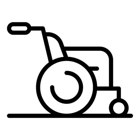 Patient vehicle icon, outline style