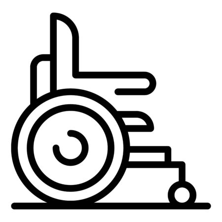 Modern wheelchair icon, outline style