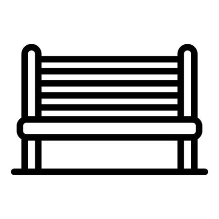 City bench icon, outline style