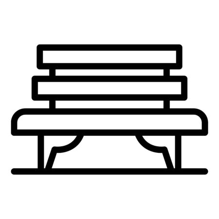Bench icon, outline style