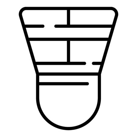 Egyptian masonry icon. Outline egyptian masonry vector icon for web design isolated on white background
