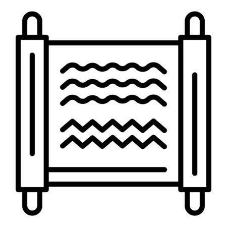 Ancient egyptian monuscript icon, outline style Banque d'images - 129338937
