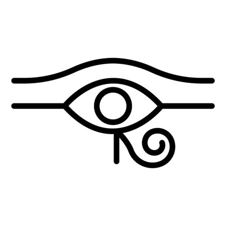 Egyptian eye icon. Outline egyptian eye vector icon for web design isolated on white background Иллюстрация