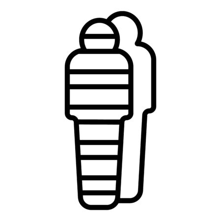 Egyptian mummy icon, outline style